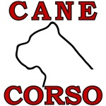 Cane Corso Logo Red