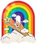 Stars and rainbow