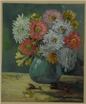 Still Life Painting of Bouquet