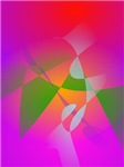 Vivid Color Digital Abstract Painting