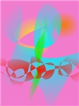 Attractive Pink Abstract Art