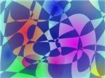 Broken Tile Mosaic Design Abstract Art