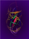 Colorful Cocoon in a Dark Purple Space
