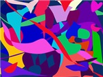 Colorful Abstract Navy