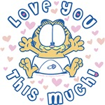 Garfield Baby Love You This Much
