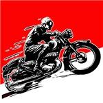 Vintage Motorcycle Rider