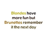 Blonde vs Brunette