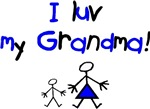 I luv my Grandma (blue)
