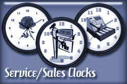 Service and Sales Occupations Wall Clocks