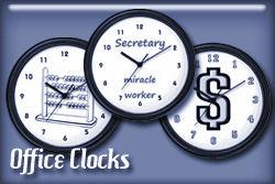 Office Occupations Wall Clocks