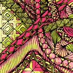 Pink Green Abstract