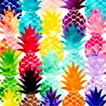 Colorful Tropical Pineapple Pattern