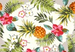 Tropical Floral With Pineapple