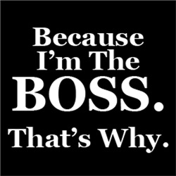 Because I'm The BOSS. That's Why.
