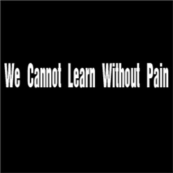 We Cannot Learn Without Pain #