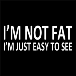 I'm Not Fat, I'm Just Easy To See