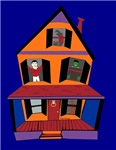 Haunted House With Monsters Office Supplies, Poste