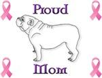 Proud Mom; purple/pink