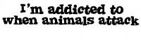 I'm Addicted to when animals attack