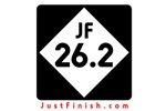26.2 - Just FINISH sign