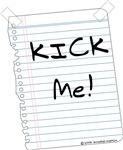 Kick Me Sign