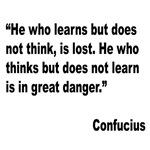 Confucius Lost Danger Quote