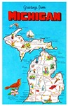 Michigan Map Greetings