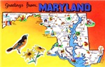 Maryland Map Greetings