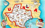 Texas Map Greetings