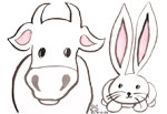 Cow and Bunny
