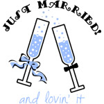 Champagne Just Married