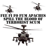 Apache AH-64 Helicopter Shirts & gifts