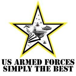 Patriotic US Armed Forces apparel