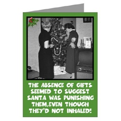 Funny Xmas Card for users of Weed