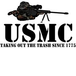 Cool military shirts-cool USMC sniper theme