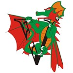 Dragon Initials Personalized T-shirts & Gifts