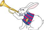 White Rabbit and Trumpet