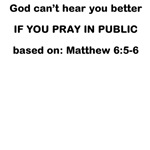 PRAYING IN PUBLIC