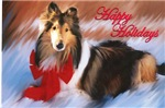 Happy Holidays Collie