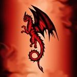 Dragon red-black