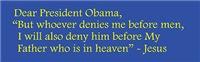 Dear Obama Letter From Jesus
