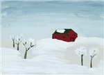 Wintertime Red House