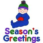 Season's Greetings Winter Baby