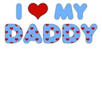 Father's Day: I Love My Daddy Blue Heart Letters