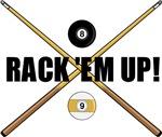Rack 'em up Billiards t-shirts & gifts