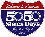 50 States 50 Days shield logo