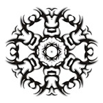 Tribal circle tattoo t-shirts & gifts
