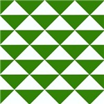 Green and White Triangles