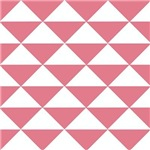 Bubblegum Pink Triangles