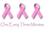 Breast Cancer: One every three minutes.